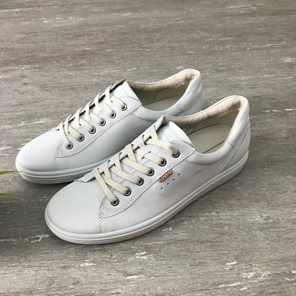 new style 0ad7b 98363 ECCO Soft 7 White Sneakers Shoes Size 41
